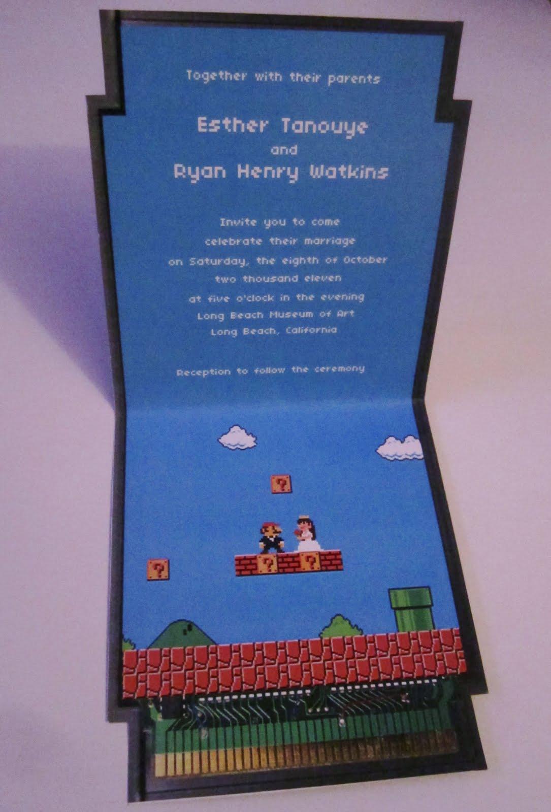Super Mario Wedding Invites The Geeky Hostess