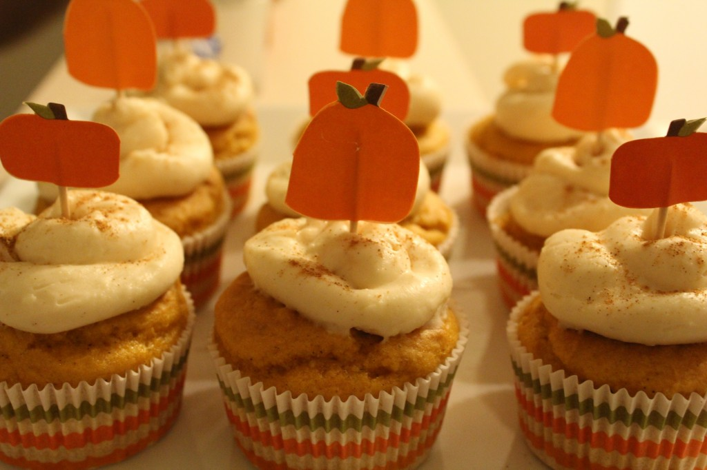Pumpkin Ale Cupcakes Recipe — Dishmaps