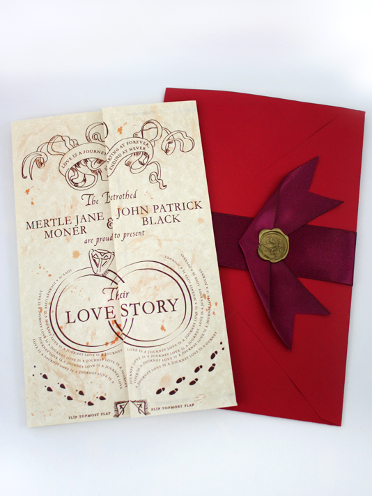 want - Harry Potter Wedding Invitations