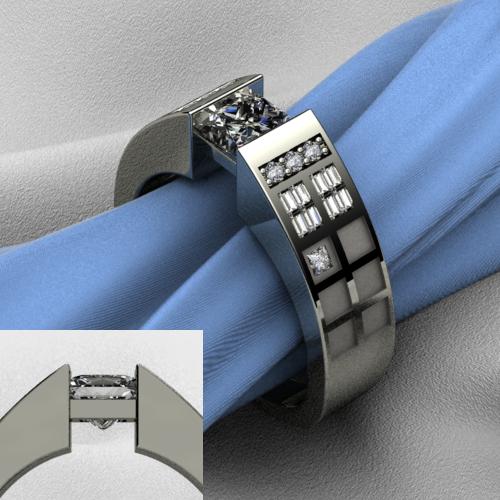 Tardis Wedding Tardis-inspired Wedding Ring