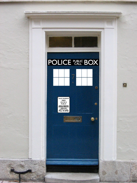 Want The Coolest Door On The Block? These TARDIS Decals Will Make That  Happen. Paint Your Door Blue And Keep It Up Year Round, Or Dress Up Your  House For ...