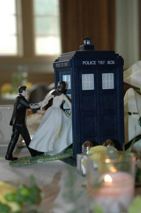Doctor Who Wedding Cake Topper The Geeky Hostess