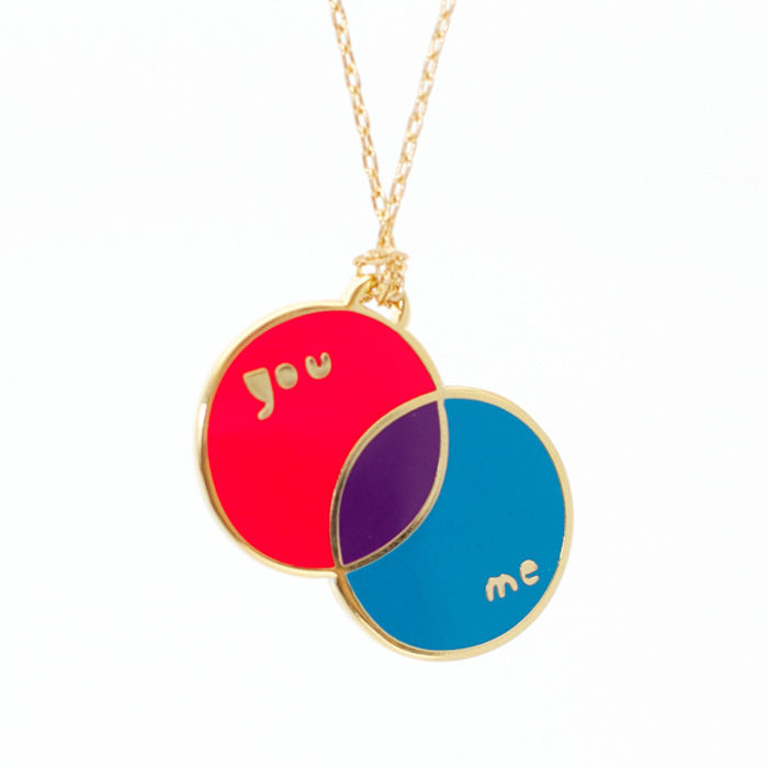 venn diagram necklace