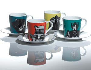 doctor who espresso cups and saucers