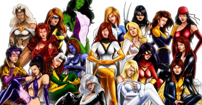 women superheros