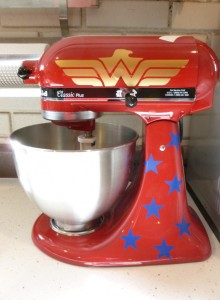 kitchenaid mixer decal wonder woman