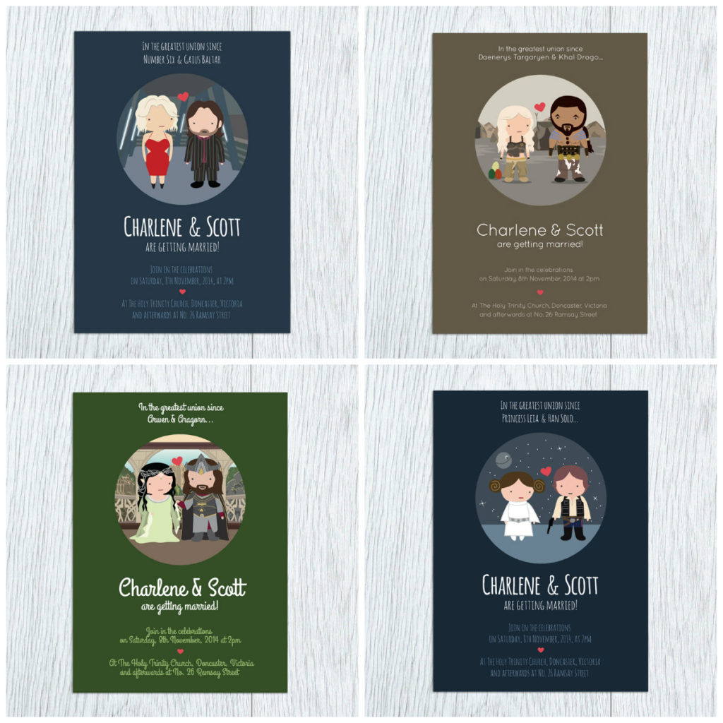 Fandom Wedding Invites