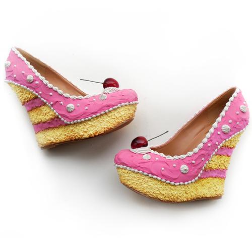 Pink Cake Wedges