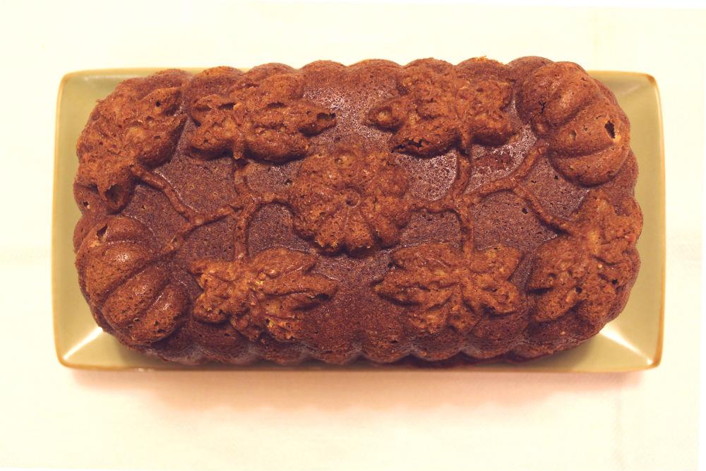 Pumpkin Bread Loaf Close Up